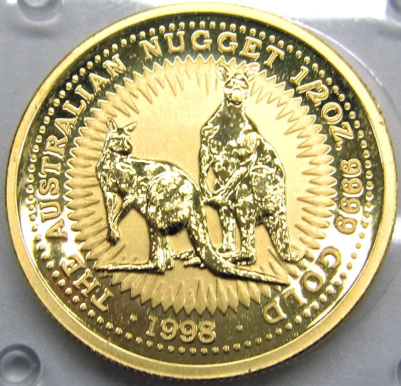 kangaroo nugget goldm nze 1998 1 2 unze 1 2 oz gold 1998 f r 603 29 bei leihhaus. Black Bedroom Furniture Sets. Home Design Ideas