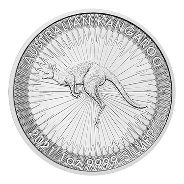 Investmentpaket - 1 Tube Kangaroo 2021 Perth Mint Silber - 25 Unzen