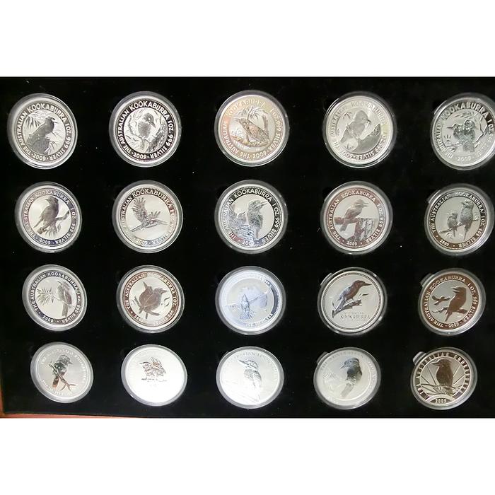 Jubiläum Komplettsatz 20 Jahre Kookaburra Silbermünze 1 Unze Von 1990