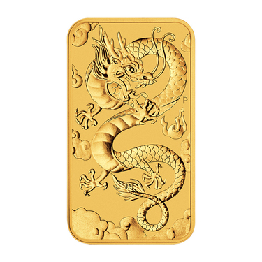 Goldmünze Rectangle Dragon 2019 - Perth Mint - 1 Unze