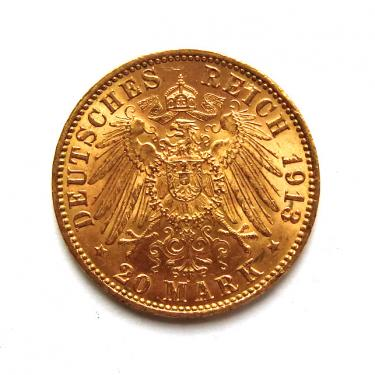 20 Mark Goldmünze Stadtwappen Hamburg 1893-1913 - J.212