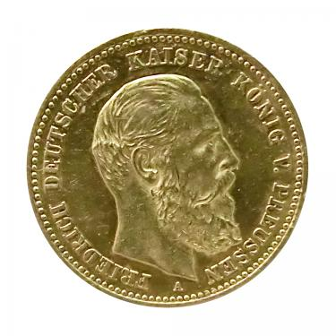 10 Mark Goldmünze Friedrich, Preussen 1888 - J.247