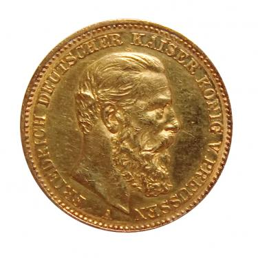 20 Mark Goldmünze Friedrich, Preussen 1888 - J.248