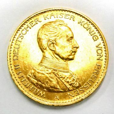 20 Mark Goldmünze Wilhelm II, Preußen, Uniform 1913-1915 - J.253