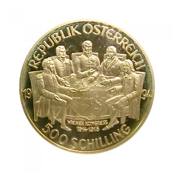 österreich Goldmünze 500 Schilling Wiener Kongress 1994