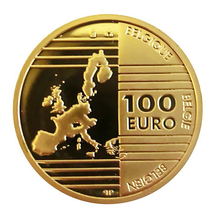 100 Euro Goldmünze Belgien Väter Europas 2002