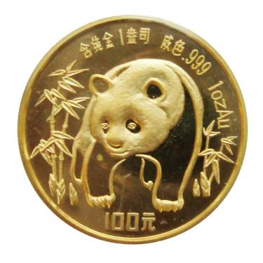 China Panda Goldmünze 1986 - 1 Unze