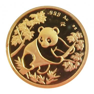 China Panda Goldmünze 1992 - 1 Unze in Original-Folie