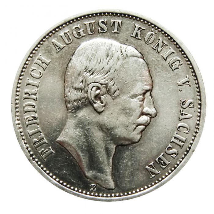 Silbermünze Deutsches Reich 3 Mark Friedrich August Diverse Jahrgänge