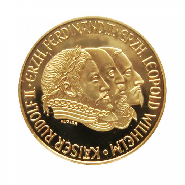 österreich Goldmünze 500 Schilling Rudolf Ii Ferdinand Ii 1993