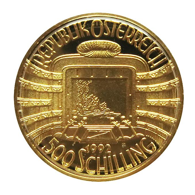 Goldmünze 500 Schilling 150 Jahre Wiener Philharmoniker