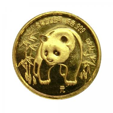China Panda Goldmünze 1986 - 1/20 Unze