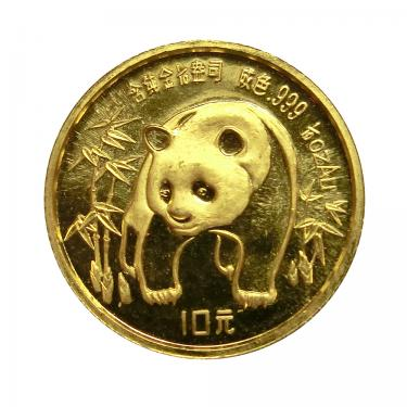 China Panda Goldmünze 1986 - 1/10 Unze  in Original-Folie