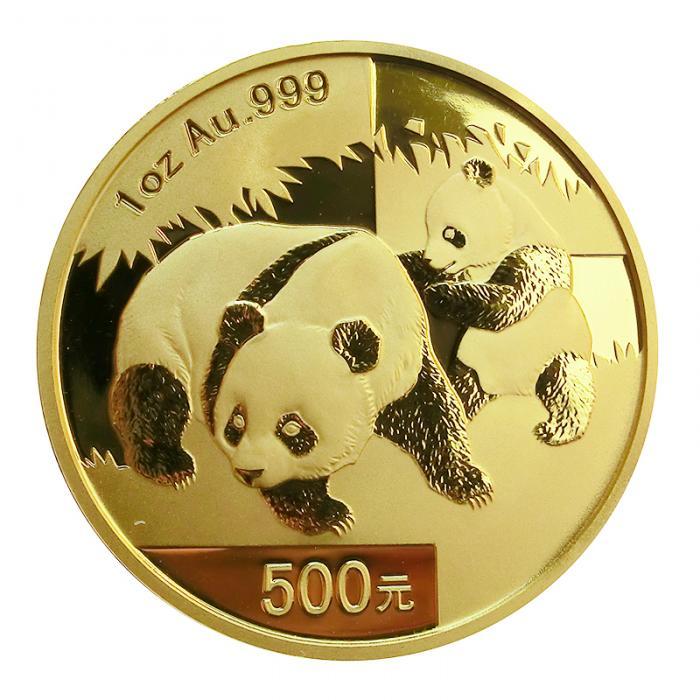 China Panda Goldmünze 2008 1 Unze