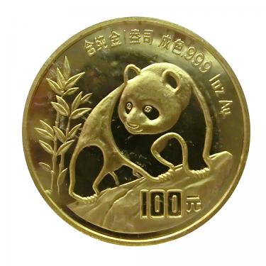 China Panda Goldmünze 1990 - 1 Unze