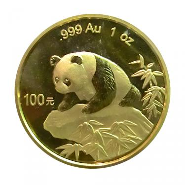 China Panda Goldmünze 1999 - 1 Unze in Original-Folie