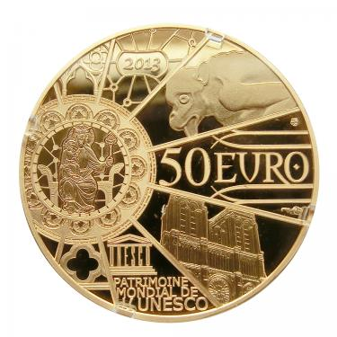 Goldmünze 50 Euro Unesco Notre Dame de Paris 2013