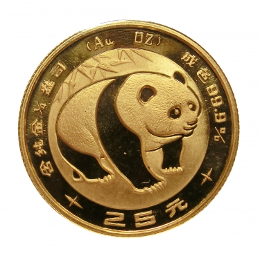 China Panda Goldmünze 1983 - 1/20 Unze