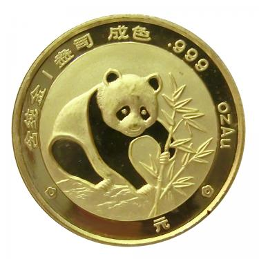 China Panda Goldmünze 1988 - 1/10 Unze  in Original-Folie
