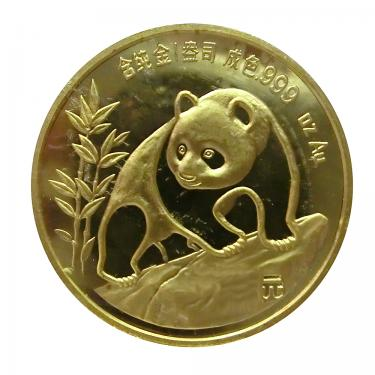 China Panda Goldmünze 1990 - 1/2 Unze