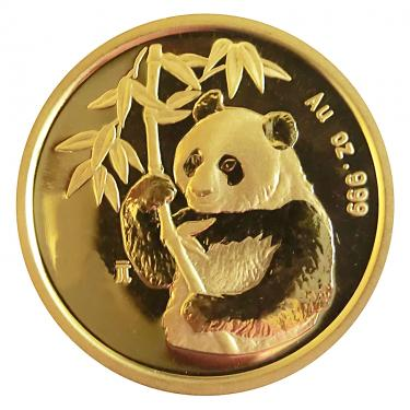 China Panda Goldmünze 1995 - 1/20 Unze