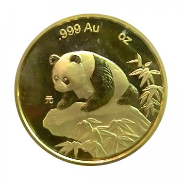 China Panda Goldmünze 1999 - 1/20 Unze