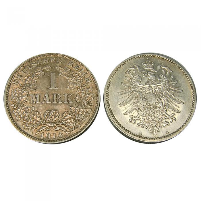 5 Silbermünzen Deutsches Reich 1 Mark 1871 1918