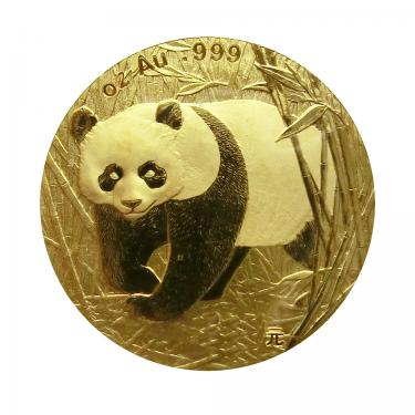 China Panda Goldmünze 2002 - 1/10 Unze
