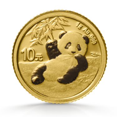 China Panda Goldmünze 10 Yuan 2020 - 1 Gramm in Original-Folie