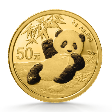 China Panda Goldmünze 50 Yuan 2020 - 3 Gramm in Original-Folie