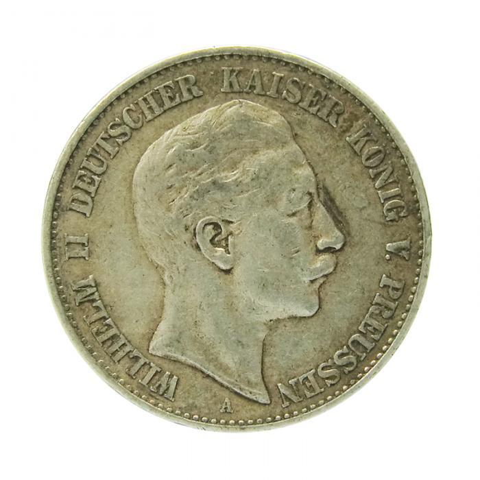 Silbermünze Deutsches Reich Preussen 2 Mark Wilhelm Ii