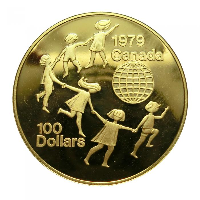 Goldmünze 12 Unze 100 Dollar Canada 1979 6 Kinder