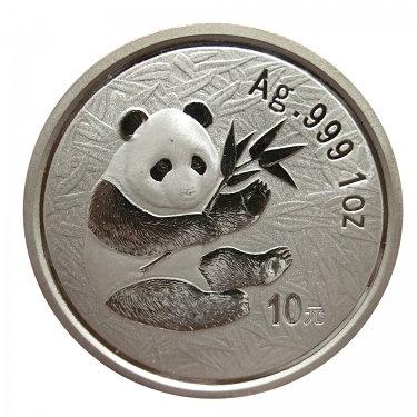 China Panda Silbermünze 2000 - 1 Unze  in Original-Folie