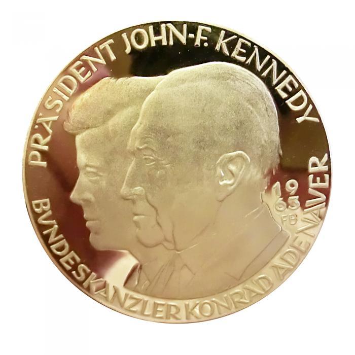 Medaille 900 Gg Kennedyadenauer 1963 10493 Gramm