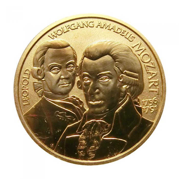 österreich 50 Euro Goldmünze Wolfgang Amadeus Mozart 2006