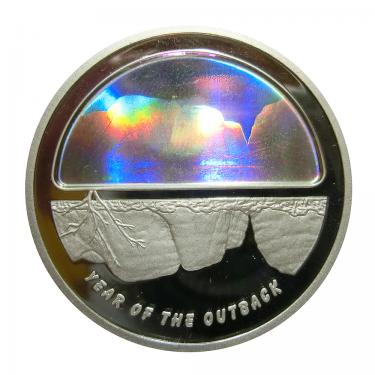 Silbermünze Australien 5 Dollar Year Of The Outback 2002