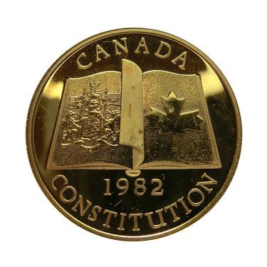 Goldmünze 1/2 Unze 100 Dollar Canada 1982 Constitution