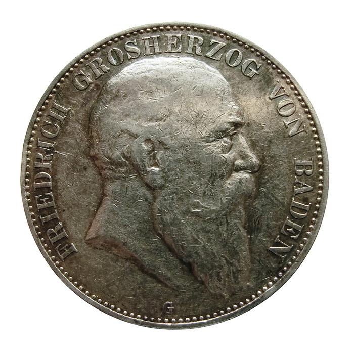 Silbermünze Deutsches Reich 5 Mark 1903 Friedrich Von Baden