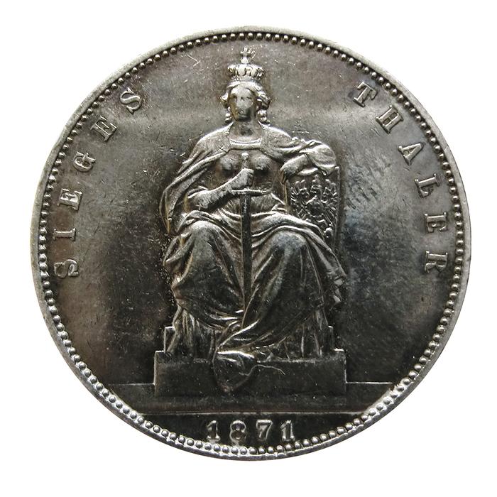 Silbermünze Wilhelm König Von Preussen Siegestaler 1871