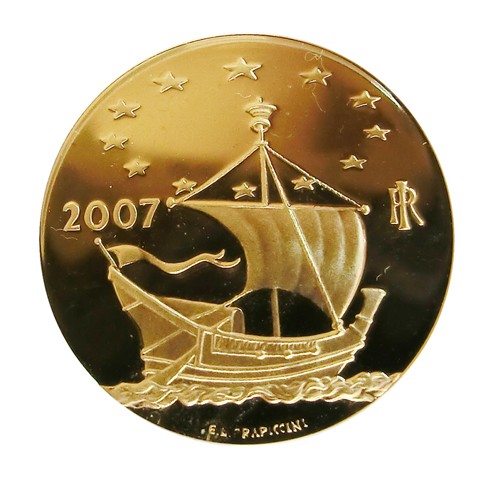 Goldmünze 20 Euro Italien Arte Celtica 900 Gg 2007 R 645g