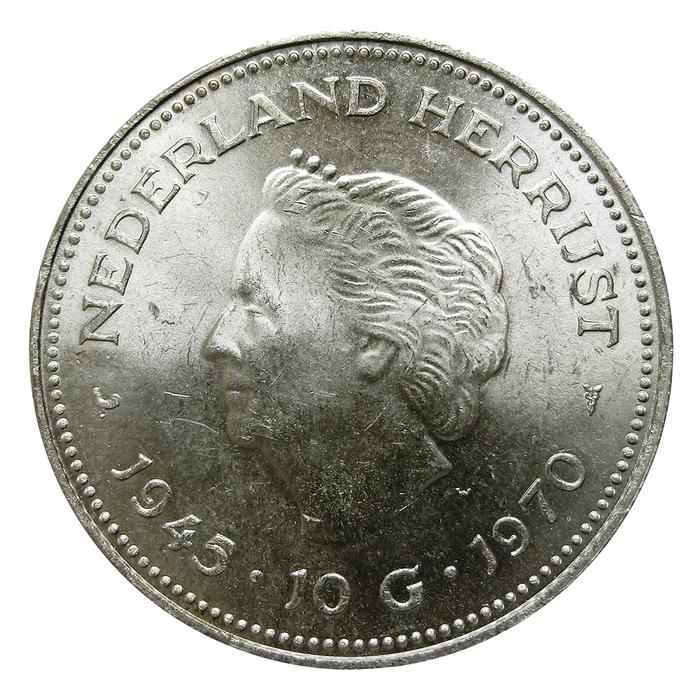 Silbermünze Königin Juliana Der Niederlande Jubiläumsmünze 10 Gulden