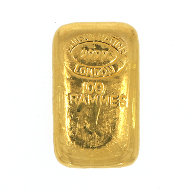 Goldbarren 100 Gramm Johnson Matthey LBMA
