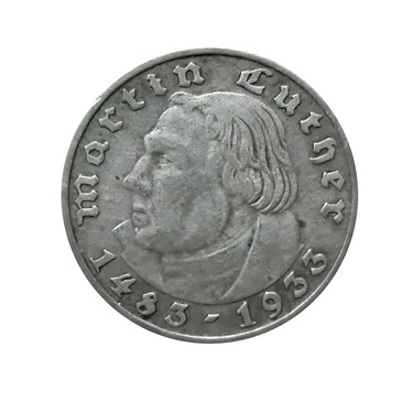 2 Mark Silbermünze Martin Luther 1933 - J.352