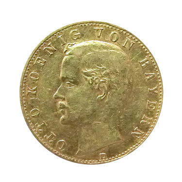 10 Mark Goldmünze Otto, Bayern 1890-1900 - J.199