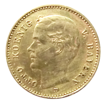 10 Mark Goldmünze Otto, Bayern 1900-1912 - J.201