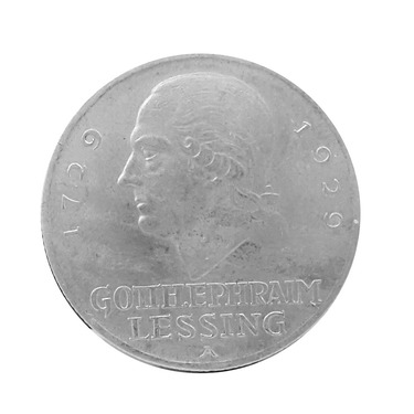 3 Mark Silbermünze Lessing 1929 - J.335