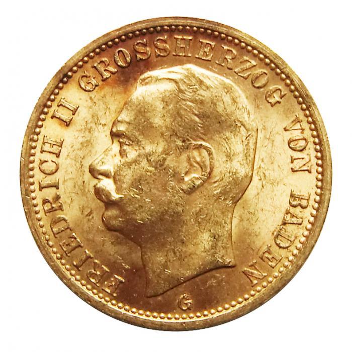 Deutsches Reich 20 Mark Goldmünze Friedrich Ii
