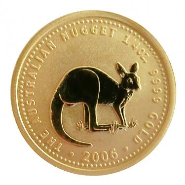 Kangaroo Nugget Goldmünze 2006 - 1/4 Unze Privy Mark M7