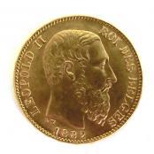Belgische Goldmünzen Im Gold Silber Münzen Shop