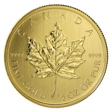 Maple Leaf Goldmünze diverse - 1/2 Unze 999,9 Feingold